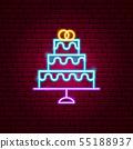 Wedding Cake Neon Sign 55188937