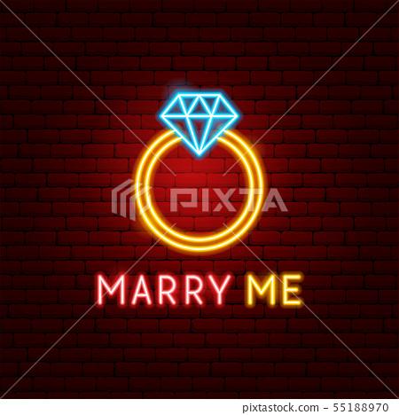 Marry Me Neon Label 55188970