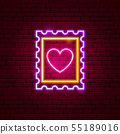 Heart Post Stamp Neon Sign 55189016