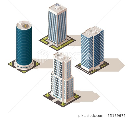 Office buildings and business centers, real estate - Stock ...