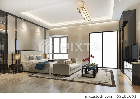 modern bedroom suite tv with wardrobe 55191601
