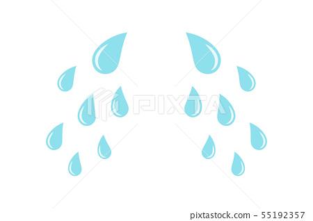 Cartoon cry tears. Droplets or teardrops icons 55192357