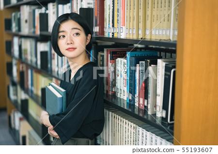 女大學生圖書館圖書館攝影合作:Keisen Jogakuen大學 55193607
