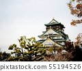A feeling of force of Osaka Castle that is reflected in nature 55194526