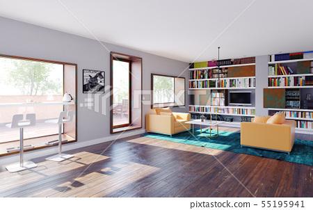 modern home interior - Stock Illustration [55195941] - PIXTA