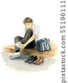 Tie a shoelace 55196111