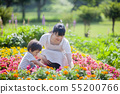 Gardening in parent and child 55200766