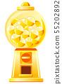 金膠囊玩具機(圓形,帶膠囊) 55202892