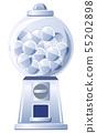 銀膠囊玩具機(圓形,帶膠囊) 55202898