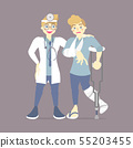 doctor and broken bone patient, health care 55203455