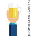 맥주 알코올 소지 일러스트 (건배 · 연회 · 회식) 55205873