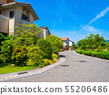 Residential area without telephone pole 55206486