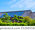 老房子和太陽能電池板 55206558