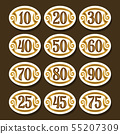 Vector set of Number icons 55207309