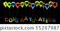 Colorful balloons with congratulation 55207987