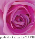 Center beautiful purple rose. Abstract rose. Purple rose close up. Beautiful flower. 3d realistic 55211198
