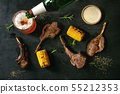 Grilled rack of lamb 55212353