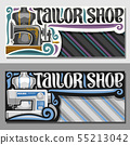 Vector banners for Tailor Shop 55213042