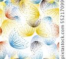 Seamless dandelion in watercolor style  55217099