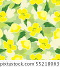 creative pattern with flowers of rape 55218063