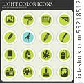 art tools icon set 55218512