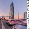 Traffic on a Bridge and Skyscrapers 55218544