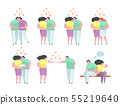 Traditional and Gay and Lesbian Couples relationship man and woman. 55219640