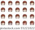 年輕女子的面部表情變化 55221022