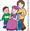 할머니 가족 휠체어 수석 55221055