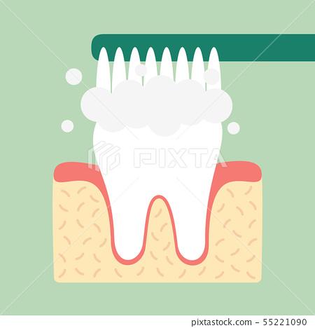 brushing teeth 55221090