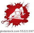 Snooker player action cartoon graphic vector 55221397