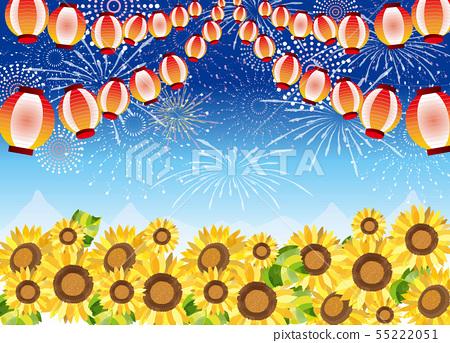 여름 축제와 해바라기 55222051