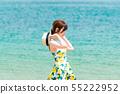หญิงสาวบนชายหาด 55222952