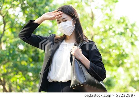 55222997 - Business Photo Woman Pixta Masked Stock