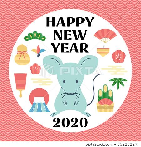 新年賀卡2020 55225227