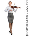Businesswoman playing violin 55227894