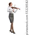 Businesswoman playing violin 55228582