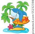 Surfer shark theme image 2 55232398