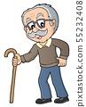 Grandpa with walking stick image 1 55232408