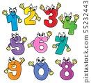 Cartoon numbers theme set 2 55232443
