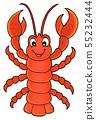 Cartoon lobster theme image 1 55232444