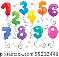 Balloon numbers theme set 2 55232449
