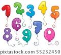 Balloon numbers theme set 1 55232450
