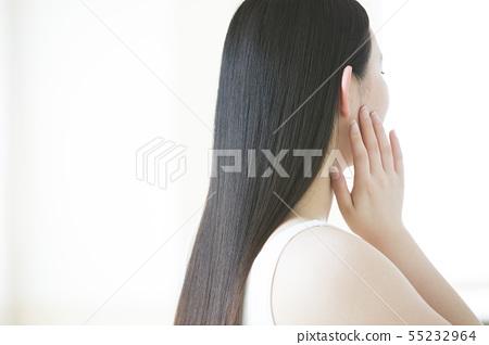 頭髮護理美容美女形象女人年輕女子 55232964