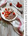 Thin slice of Grilled Machete Steak or Skirt Steak 55233152