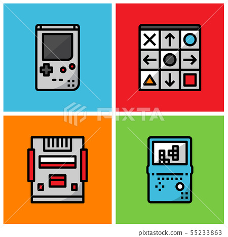 Retro game player 55233863