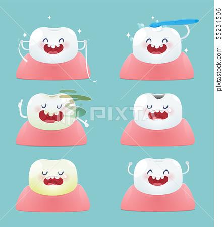 Set of cute little teeth 55234506