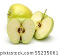 Fresh golden apples isolated on white 55235061