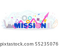 Business mission statement. Word mission typographic concept. 55235076