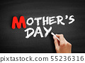 Mother's Day text on blackboard 55236316